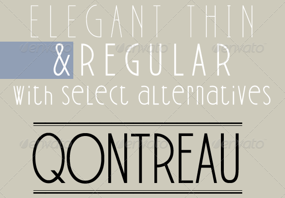 fonts - cool fonts - Qontreau