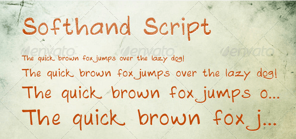 fonts - cool fonts - Softhand Script