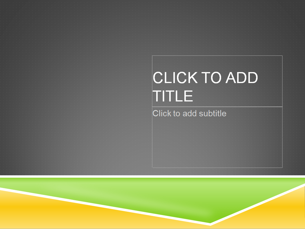 Powerpoint template tips - don't use stock templates