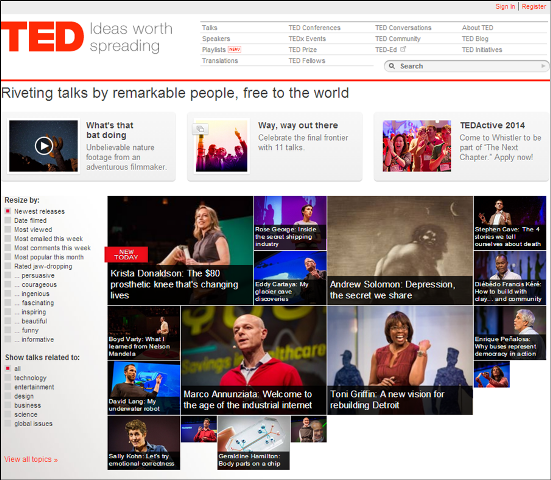 Storyteller - follow TED  to learn how to tell a story