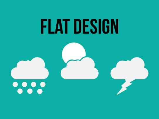 presentation tips - presentation design trends - flat design
