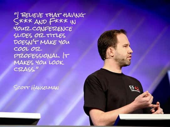 presentation tips - scott hanselman