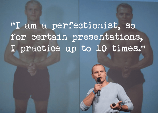 public speaking tips - presentation tips - tim ferriss - practice