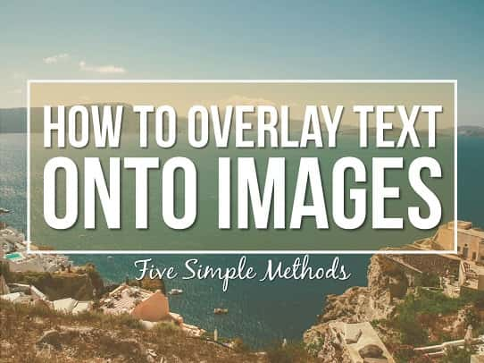 presentation tips - how to overlay text on images 1