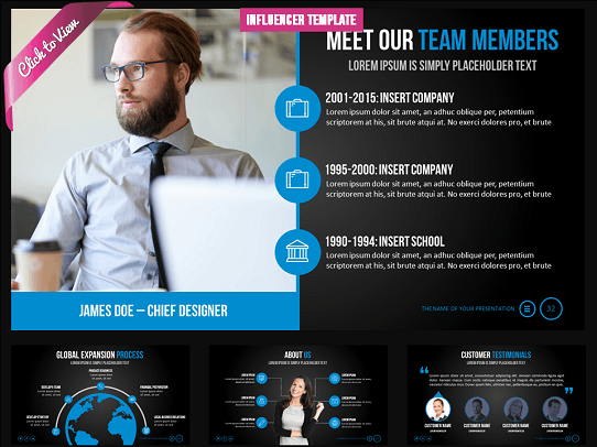 Best PowerPoint Template - Professional PowerPoint Template - Cool PowerPoint Template - Influencer Presentation Template.jpg