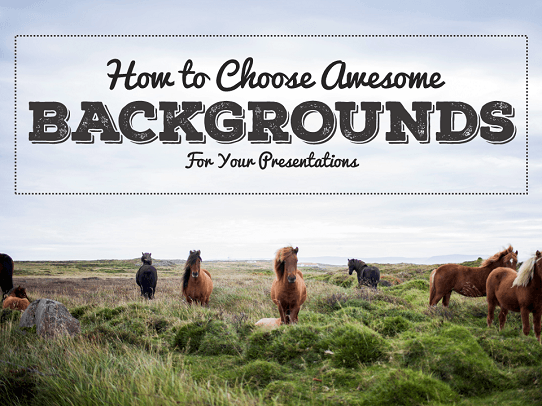 PowerPoint design tips - How to create awesome backgrounds for presentations
