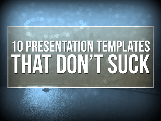 professional powerpoint templates - 10 templates that don't suck