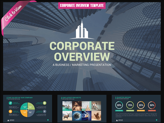 10 professional powerpoint templates you'll think are cool, Powerpoint Template Corporate Presentation, Presentation templates