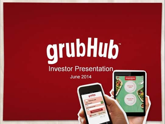 powerpoint design tips - lessons from GrubHub's investor presentation