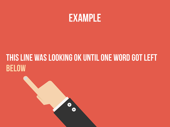 PowerPoint Tips - Lengthy Line Spill Over