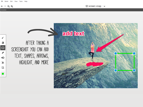 Presentation Design Tips - ScreenShot Tool - Skitch