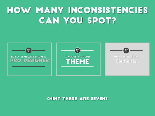 Presentation Design Tips - How to design an awesome presentation template - Tip #5
