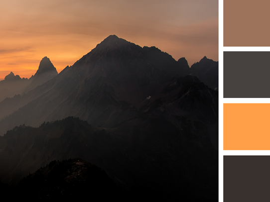 PowerPoint Design Tips - How to pick colors for PowerPoint - The Mountain Sunset
