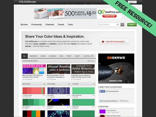 Presentation Design Tips - Color Combinations - Color Palette Resource - ColourLovers
