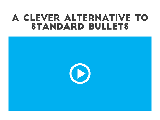 PowerPoint Design Tips - 7 Alternatives to Bullet Points - Video