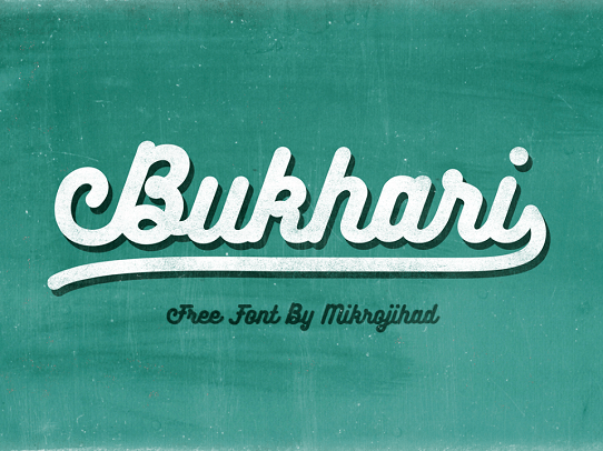 PowerPoint Free Font - Bukhari