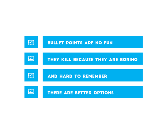 Powerpoint Design Tips - A Better Approach to Bullet Points