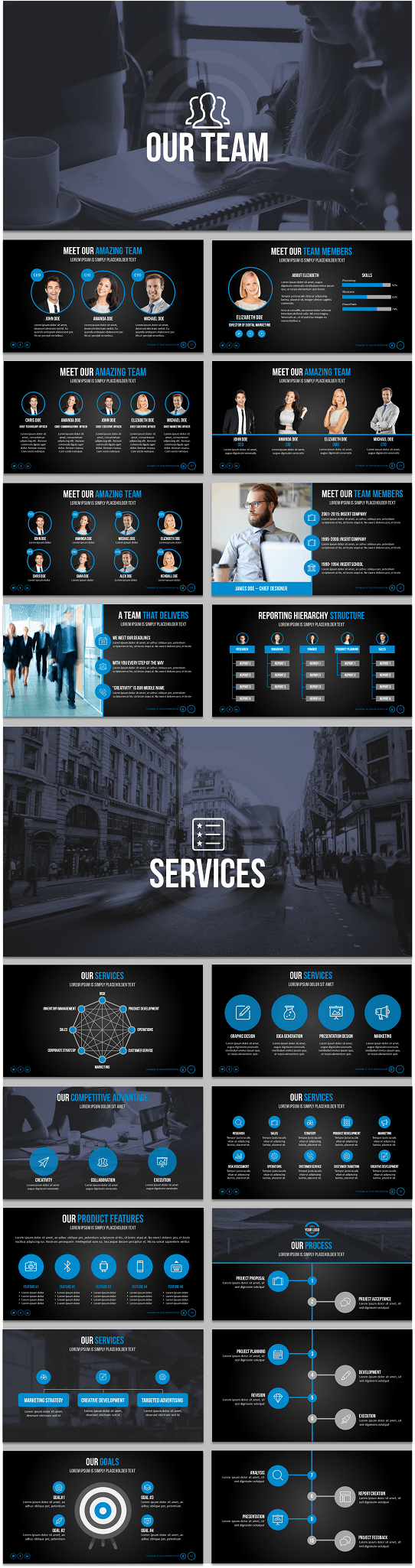 Captivating Cool PowerPoint Template   Professional PowerPoint Template   Influencer  Template