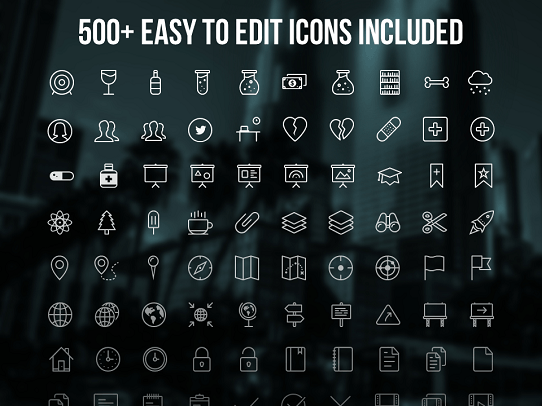 5 free presentation icon sets you need to download today powerpoint template professional presentation template influencer template 500 icons toneelgroepblik Gallery