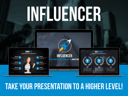 Top PowerPoint Template - Professional Presentation Template - Influencer Template