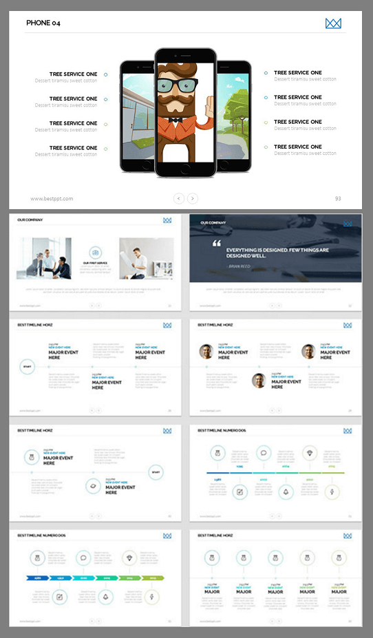 modern presentation template - amazing PowerPoint templates
