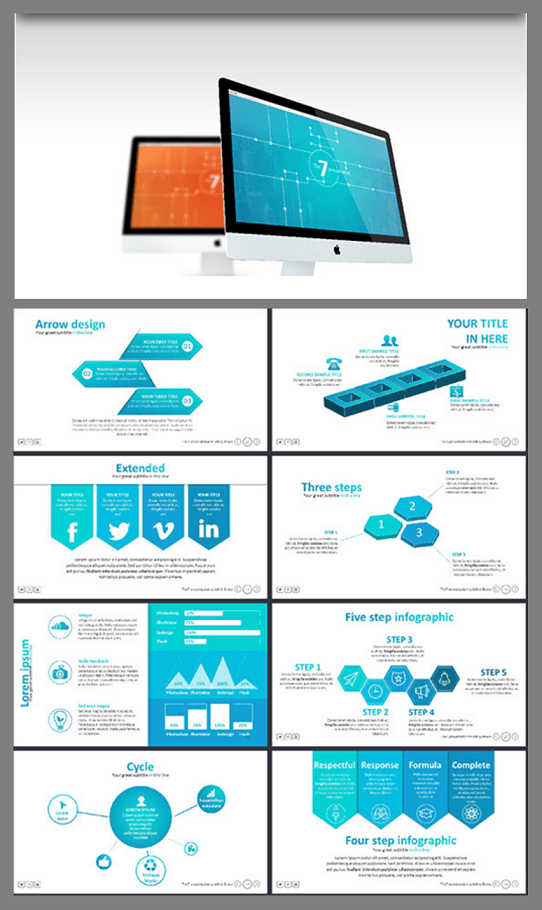 modern presentation template - modern PowerPoint template