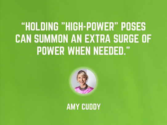 Amy Cuddy - power poses - best public speaking tips - presentation secrets