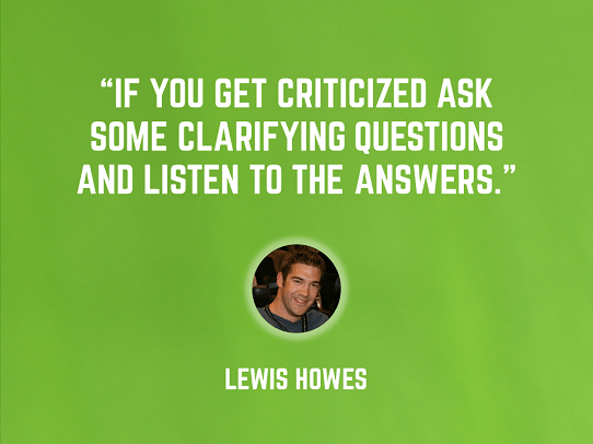 Lewis Howes - suggestions for public speaking - handling criticism during presentations