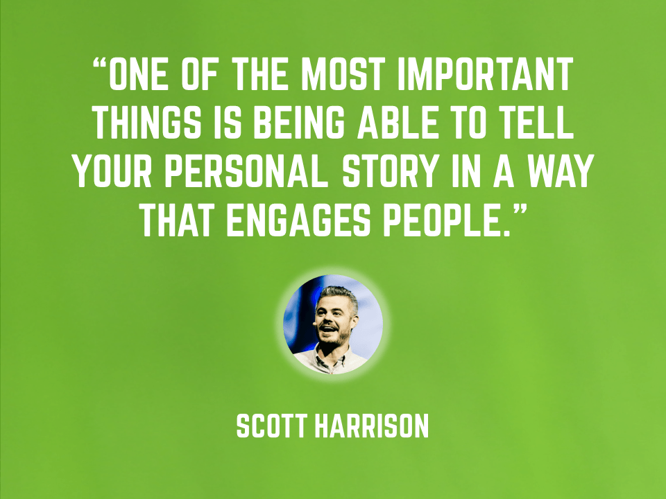Scott Harrison - keys to a good presentation - tell stories
