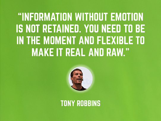 Tony Robbins - emotional presentation - presentation tips