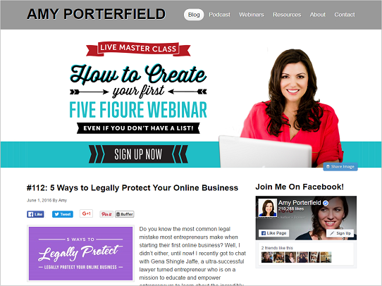 How To Create Awesome Webinars - Amy Porterfield