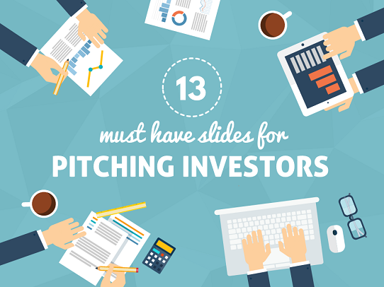 Presentation slides to include in an investor pitch deck