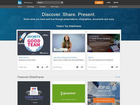 Slideshare is a great place to find presentation inspiration and powerpoint design inspiration