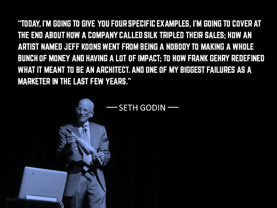 how to open a presentation - ways to start a presentation - seth godin
