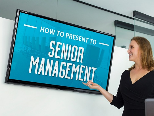 how to present to senior management - presentation tips for impressing upper management - executive presentation