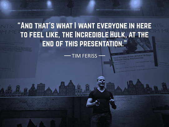 how to start a presentation - how to open a speech - tim feriss