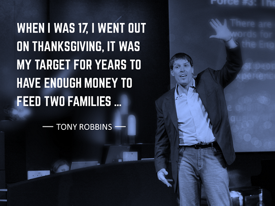 how to start a presentation with a story - tony robbins