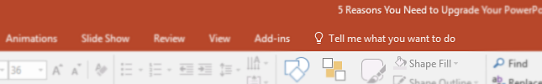 powerpoint-tell-me-feature. quickly find the powerpoint tool you need with tell me