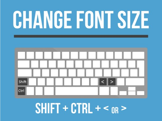 top-powerpoint-keyboard-shortcuts-change-font-size-with-shift-control-greater-than-or-less-than-keys