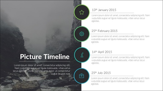 best webinar presentation - include a timeline slide