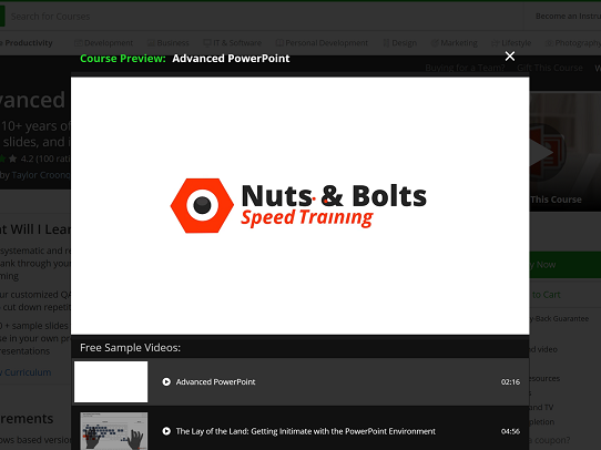 PowerPoint Time-Saving Shortcuts with Nuts and Bolts Speed Training