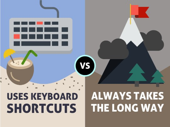 presentation tip - use keyboard shortcuts