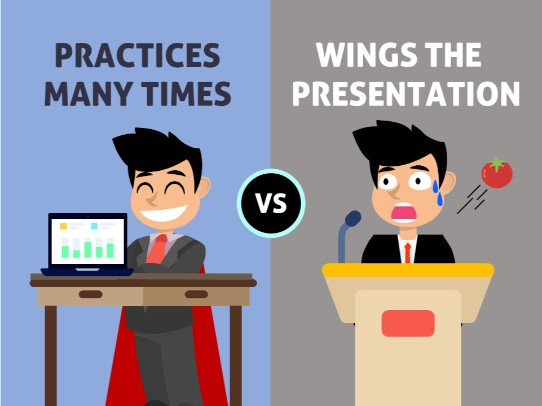 presentation tips - practice many times