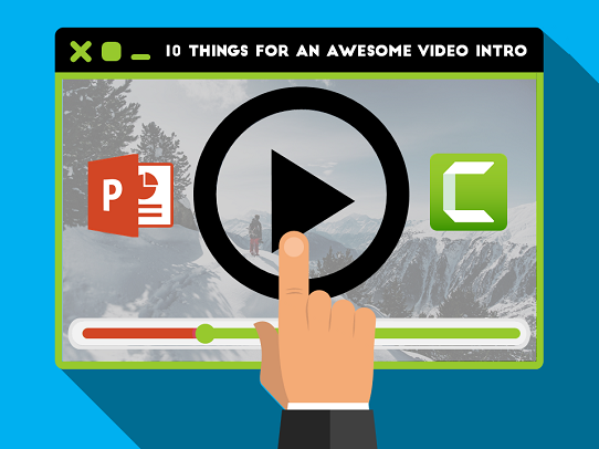 how to create a video intro using powerpoint and camtasia