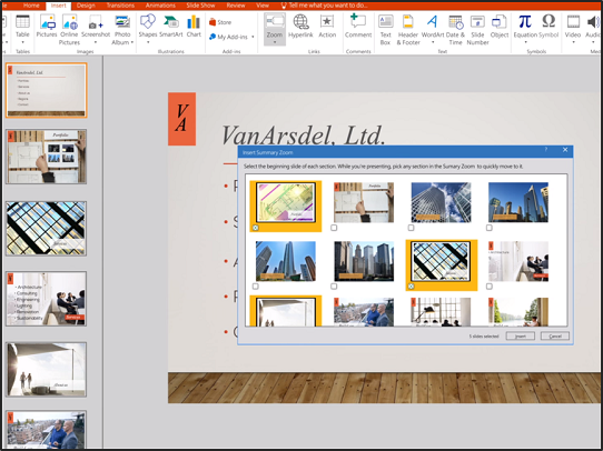 Create a Dynamic Summary Slide Using the PowerPoint