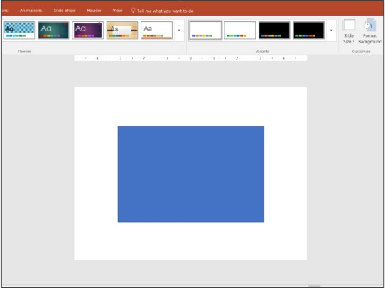 avoid the default PowerPoint blue color. customization is key