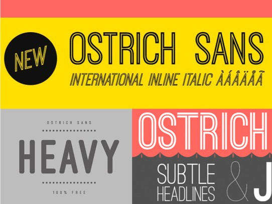 best free fonts for powerpoint - ostrich sans