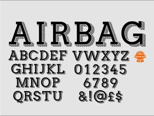 creative free serif fonts for powerpoint - Airbag