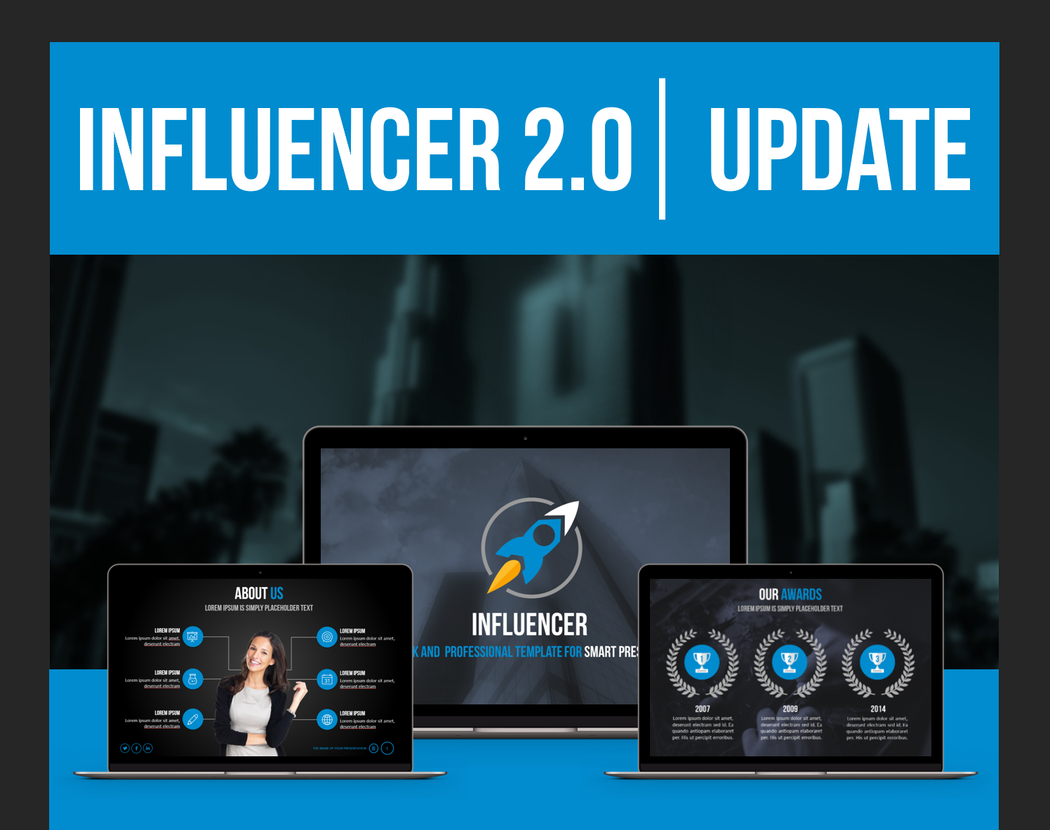 best powerpoint templates 2018 - influencer professional ppt template