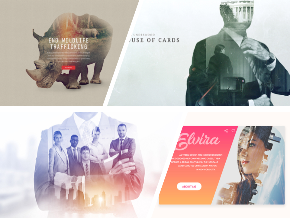 Presentation Design Trends for 2018 - double exposure